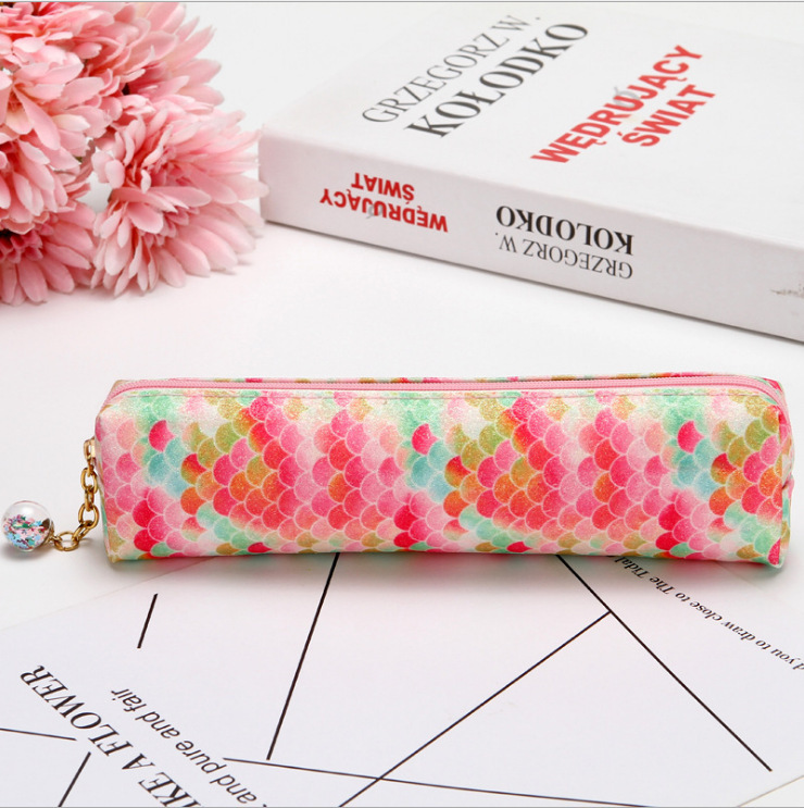 Laser Sequined Diamond Pencil Case Explosion-proof Student Supplies Colorful Stationery Bag 3