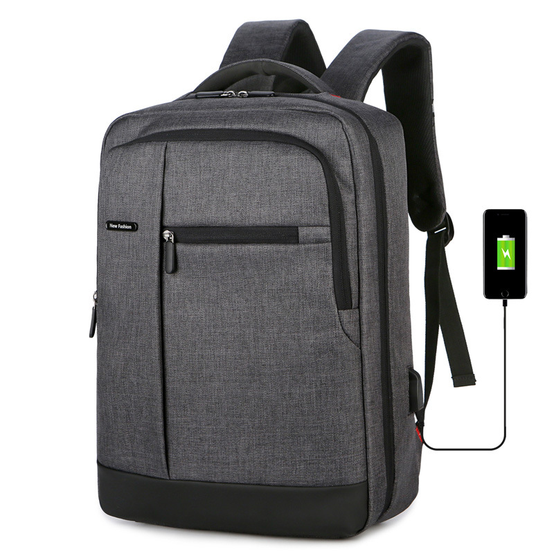 Computer Backpack Outdoor Leisure Backpack Wear-resistant Scratch-resistant Oxford Cloth Backpack 4