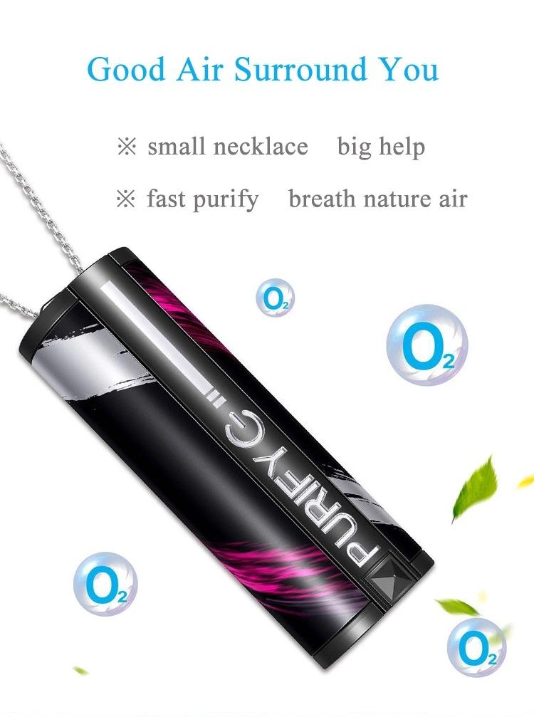 Portable Anion Air Purifier Home Car Sterilization Portable Mini Air Purifier Necklace 0