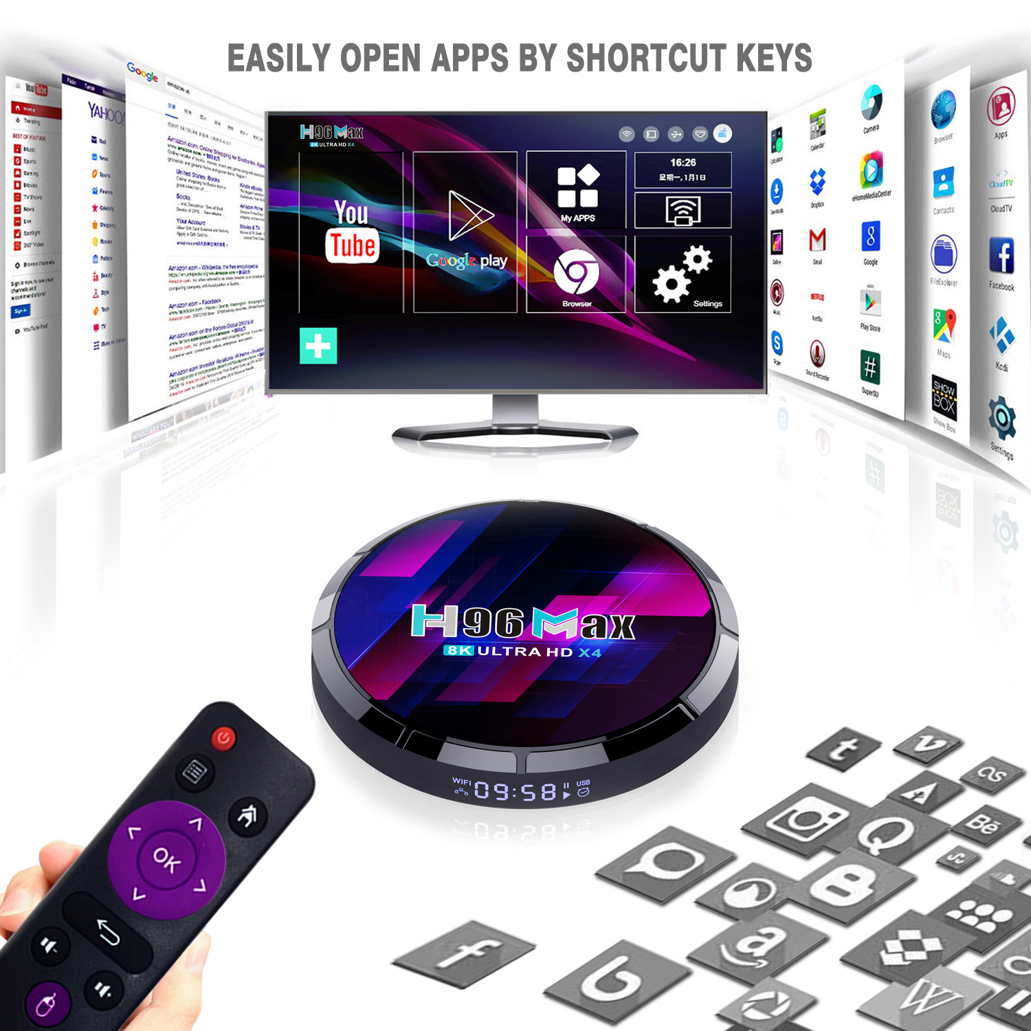 2021 New H96 Max S905X4 Tv Box Android 10.0 4G+64G 8K Network Player 5