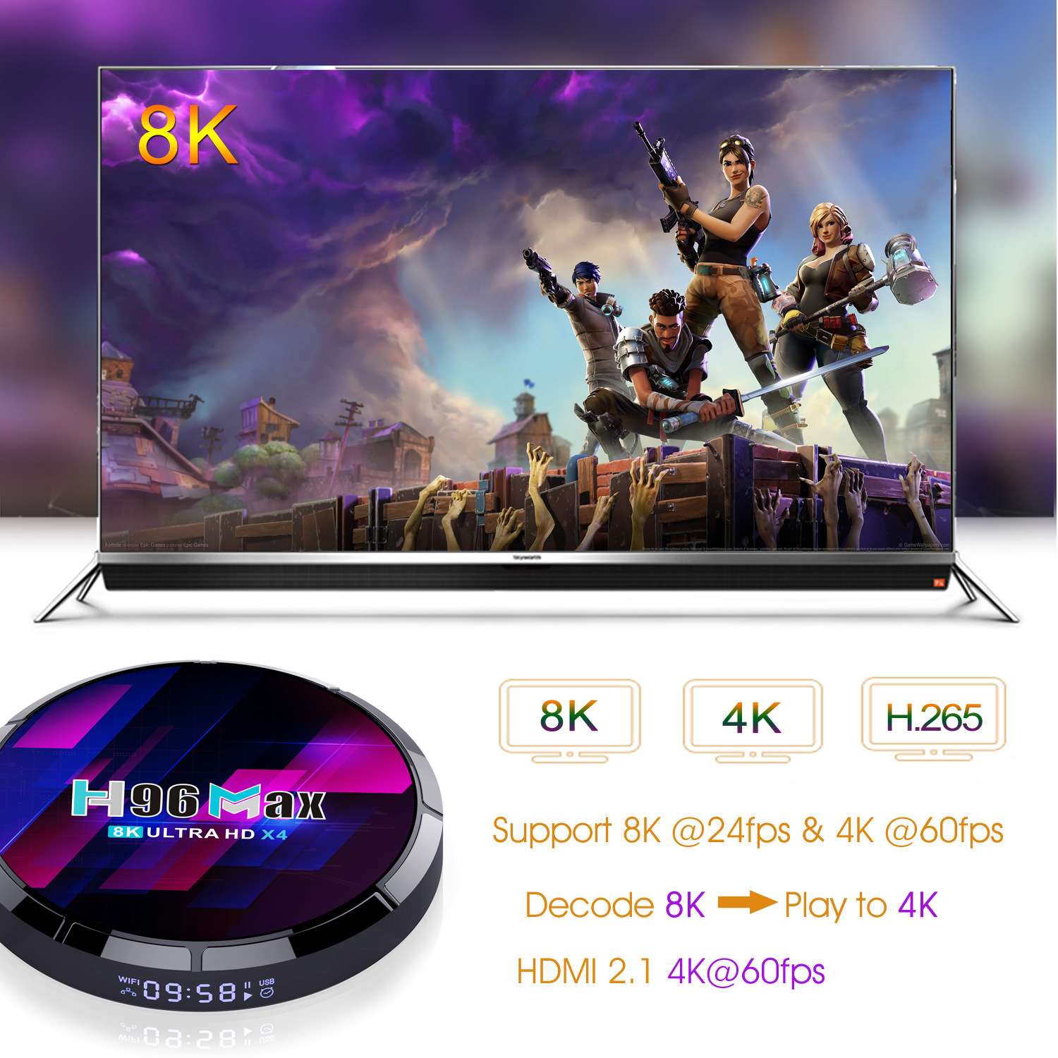 2021 New H96 Max S905X4 Tv Box Android 10.0 4G+64G 8K Network Player 3