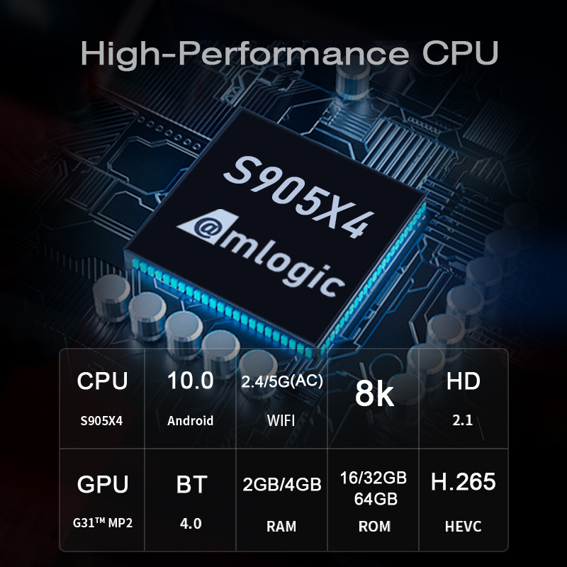 2021 New H96 Max S905X4 Tv Box Android 10.0 4G+64G 8K Network Player 0