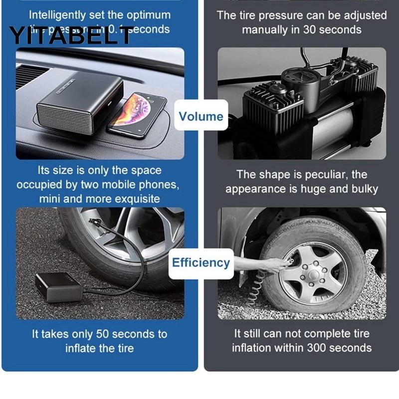 12V Portable Car Tire Inflator Smart Air Pump Tire Pump Car Electric Tire Air Pump 0