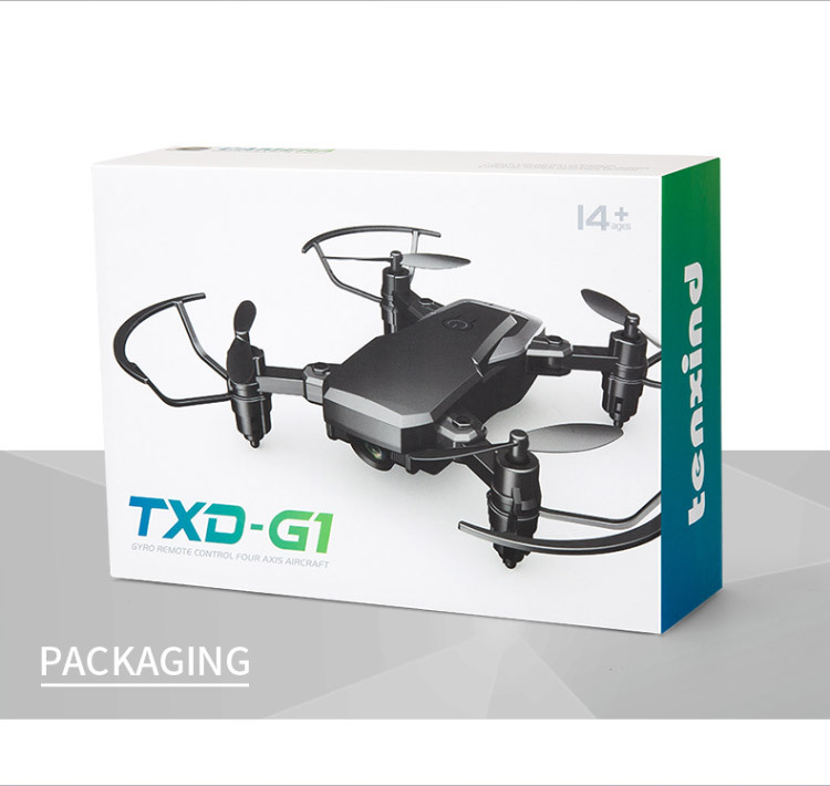 Tinkleo Mini Foldable Unmanned Drone with Quacopter HD Camera Wi-Fi Transmission Headless Mode Camera Drone 8