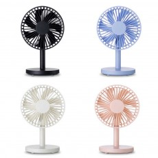 USB Desktop Mini Fan - USB Charge Mini Fan Cooling Air Desktop Hand Hold Portable Fan 3 Levels Adjustable
