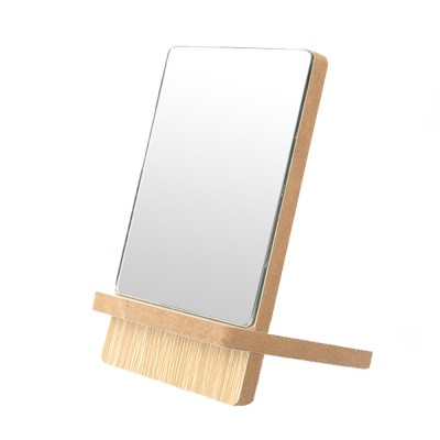 Wooden Table Top Mirror One Sided