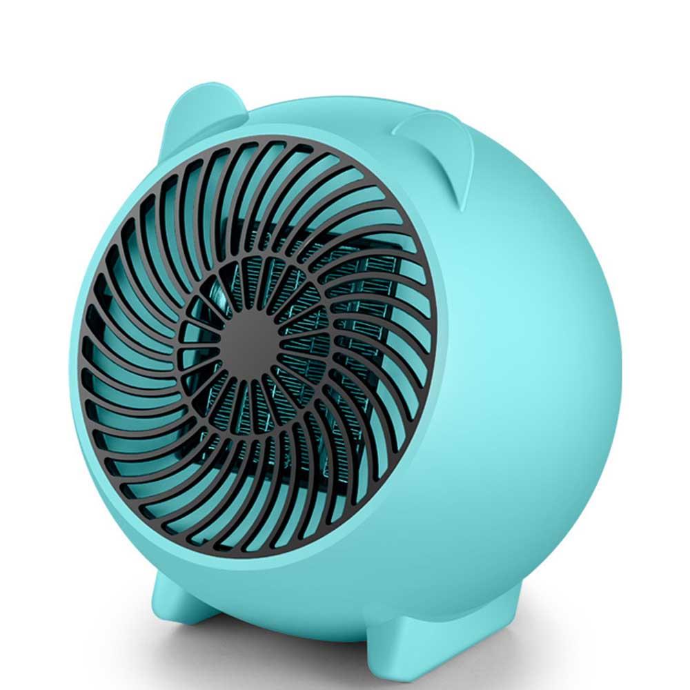 Mini Heater Fan for Desktop Home Office, Portable Electric Space Heater Cute Cartoon Candy Color