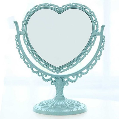 Two-Sided Makeup Mirror - Round Cosmetic Mirror and Magnification