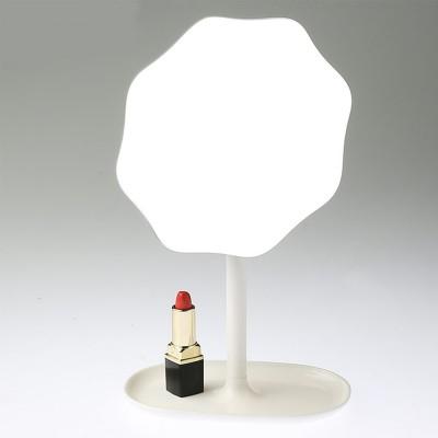 Table Top Vanity Mirror - Table Cosmetic Mirror For Vanity, One-Sided Round Cosmetic Mirror For Makeup
