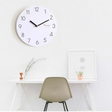 Round Wall Clock, Creative Wooden Wall Clock Modern Design Decoration, Silence