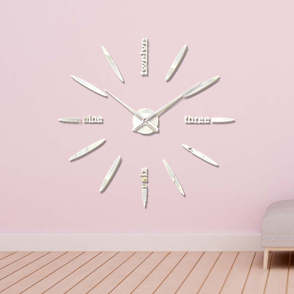 Creative Wall Clock - DIY Large Number Wall Clock with Wall Sticker