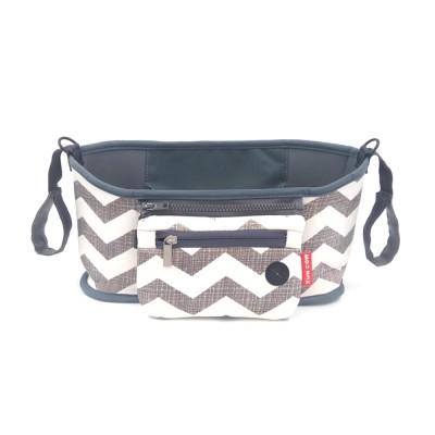 Stroller Bag Holder - Waterproof Keep Warm Stroller Bag Cup Holder with Phone Pram