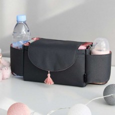 Stroller Organiser Bag - Phone Pram Stroller Bag Buggy Storage Pushchair Bag Organizer Bottle Cup Pouch Holder Handbag