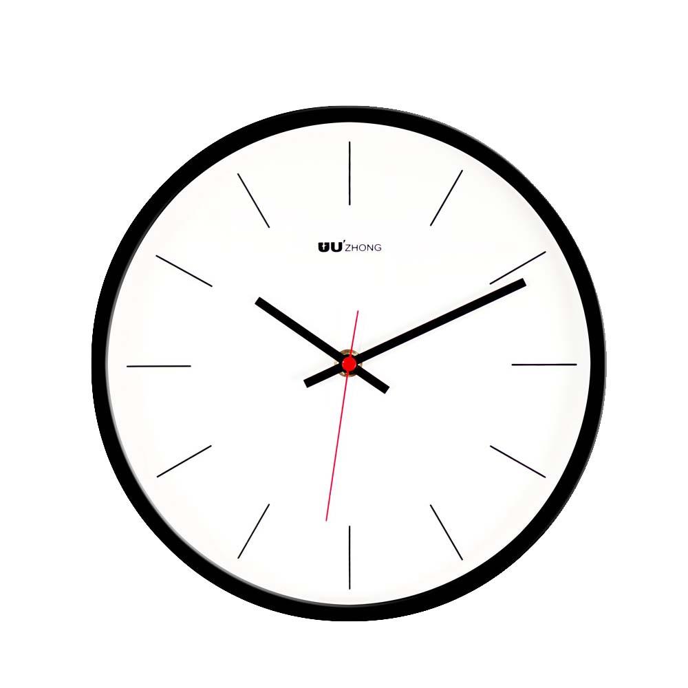 Modern Wall Clock Large - Minimalist Scale Silence Wall Clock Round Watch 10-inch