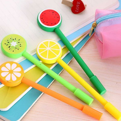 Unique Pen - Office Signature Pens with Needle Tip Colorful Fruits Sculpt, 0.5mm