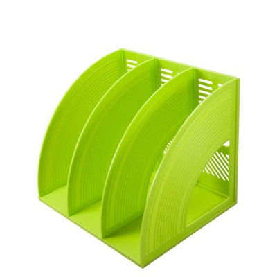 Desk File Holder - Fashion Document Rack Office Organizers Cabinet, Bright Color, HIPS Plastic