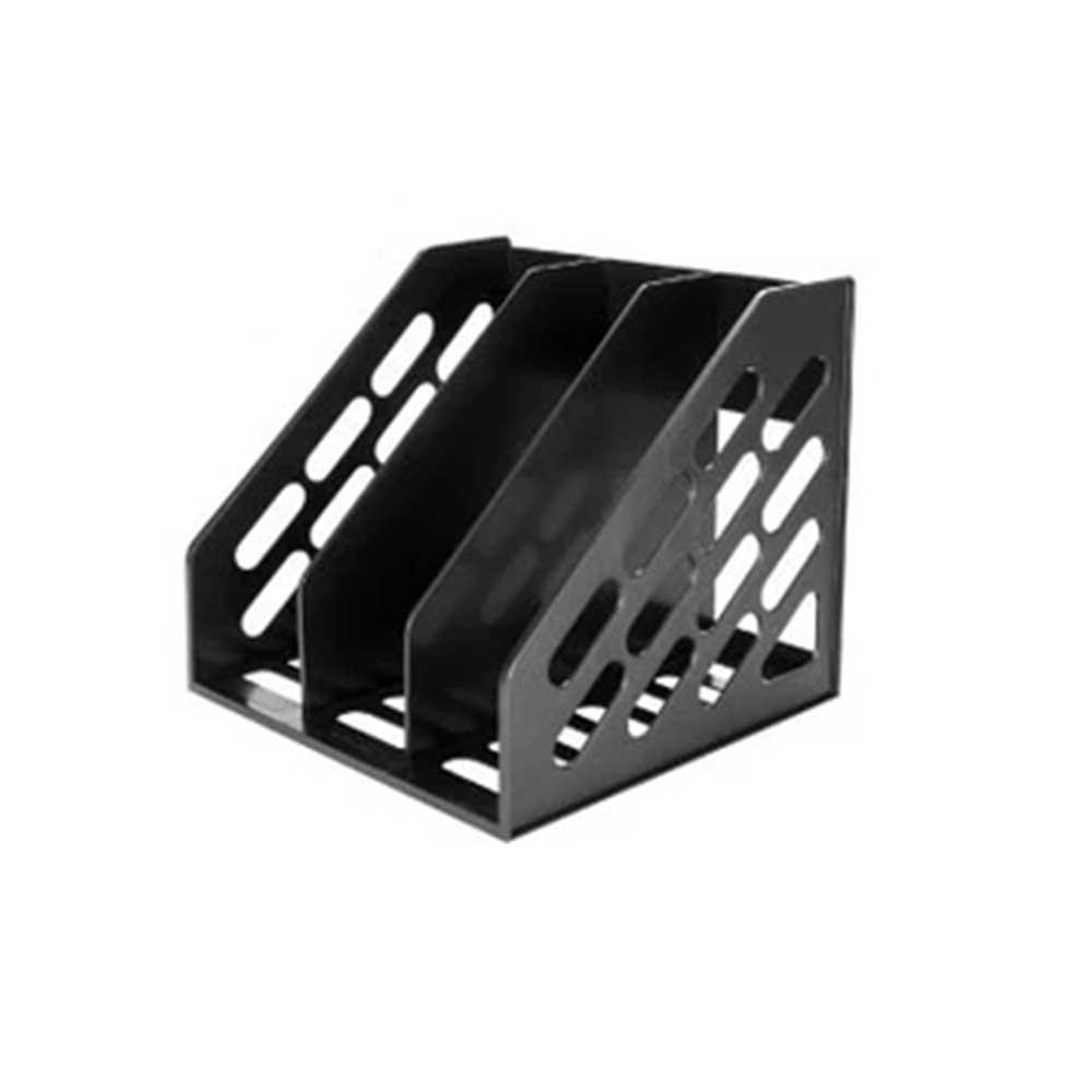 Plastic File Folder Organizer - Chic Desk Integrated Document Rack Office Organizers Desktop Supplies