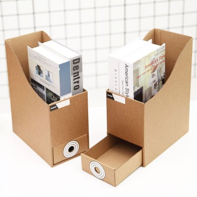Cardboard File Holder - Waterproof Office Organizers Cabinet Desk Document Rack, 2 Pieces
