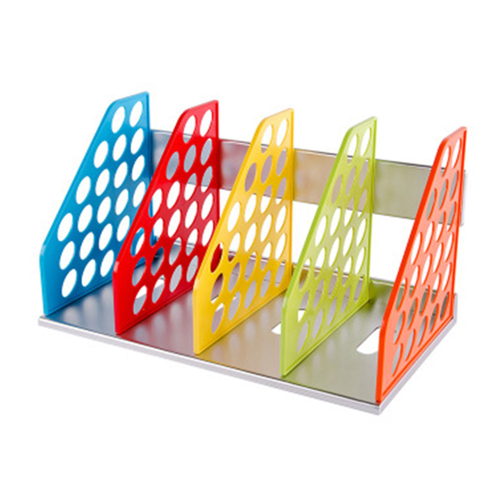 Kids File Holder - Cute Children's Colorful Plastic Desk Document Rack, 4 Subsections