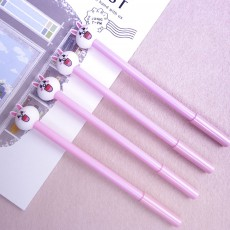 Cute Gel Pen - Cartoon Rabbit Neutral Pen Black,  0.38mm
