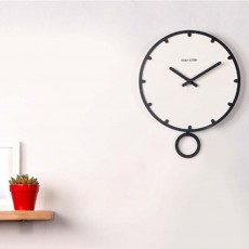 Number Wall Clock - Minimalist Modern Design Round Wall Clock, Silence