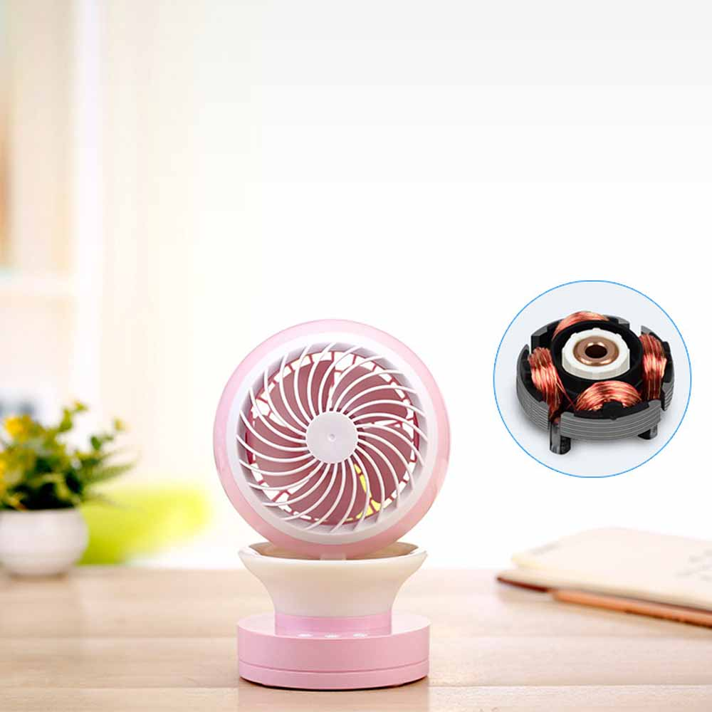 Mini Air Conditioning Fan - Portable USB Mini Desktop Humidifier With Built-in LED Night Lamp