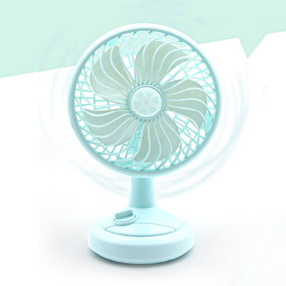 USB Mini Fan - Cooling Air Desktop Hand Hold Portable Fan Smart Swing, 3 Levels