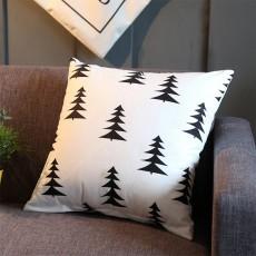 Plaid Pillowcase Chic European Style + Core Flannelette Cushion Cover, 45*45cm