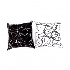 Thick Pillow Case - Modern Geometric Print Black White Linen Cushion Cover Home Decor 48cm