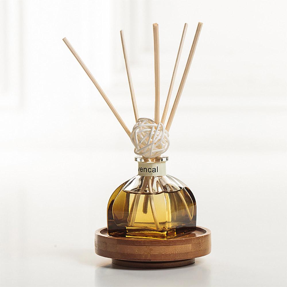 Home Perfume Diffuser - Rattan Ball Volatile Aromatic No Fire Safe Aromatherapy, Ground Glass Bottle, 50ml