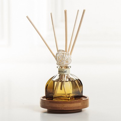 Home Perfume Diffuser - Rattan Ball Volatile Aromatic No Fire Safe Aromatherapy, Ground Glass Bottle, 50ml
