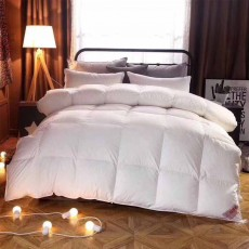 95 Goose Down Quilt  - Thicken Winter Peluche Duvet, Single Double King Size Bed Sheet, Sets Duvets