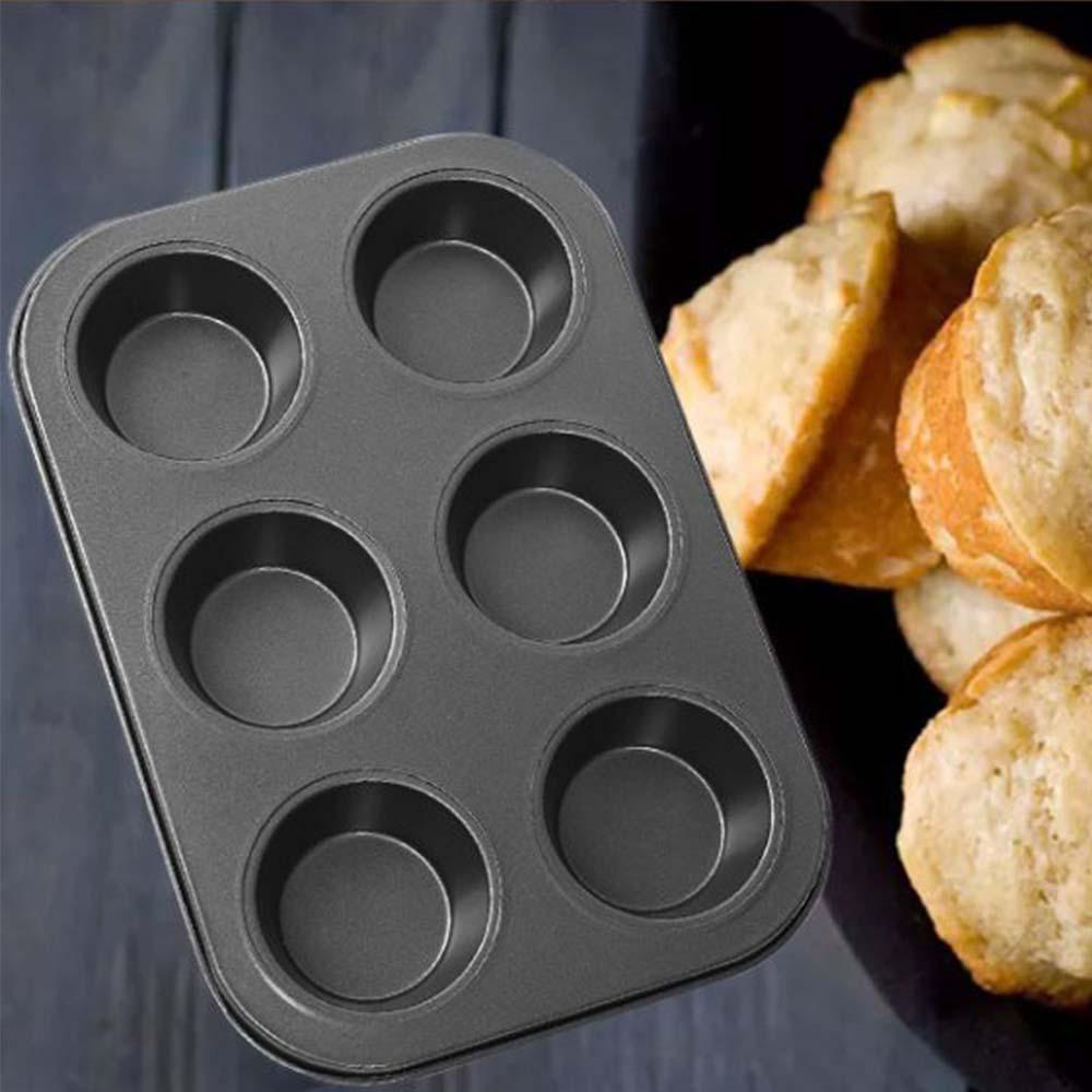 Nonstick Muffin Baking Pan Tart Mold, Durable Round Cake Mould