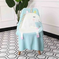 Unicorn Baby Blanket, Soft Warm Baby Throws, Stereoscopic Throws