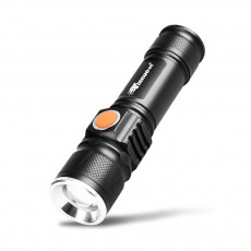 Outdoors Ultra Bright LED Flashlight for Hiking Camping Picnic, Compact Emergency LED Light Torch, USB Rechargeable