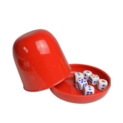 Durable Plastic Dice Cups Anti-impact Dice Storage for Party Bar KTV and Casino Pub Gambling Poker Game