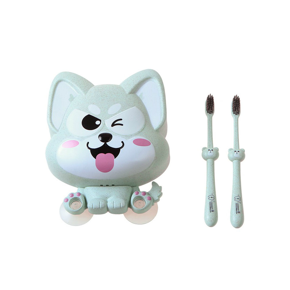 Wall Mounted Toothbrush Hanger for Bathroom, Fox Shape Toothbrush Holder Family Couples Roommates Use, Hanging Bathroom Toothbrush Holder