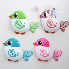 Creative Hanging Toothbrush Holder, Lovely Bird Shape Bathroom Toothbrush Hanger Organizer for Home, Dormitory, Hotel