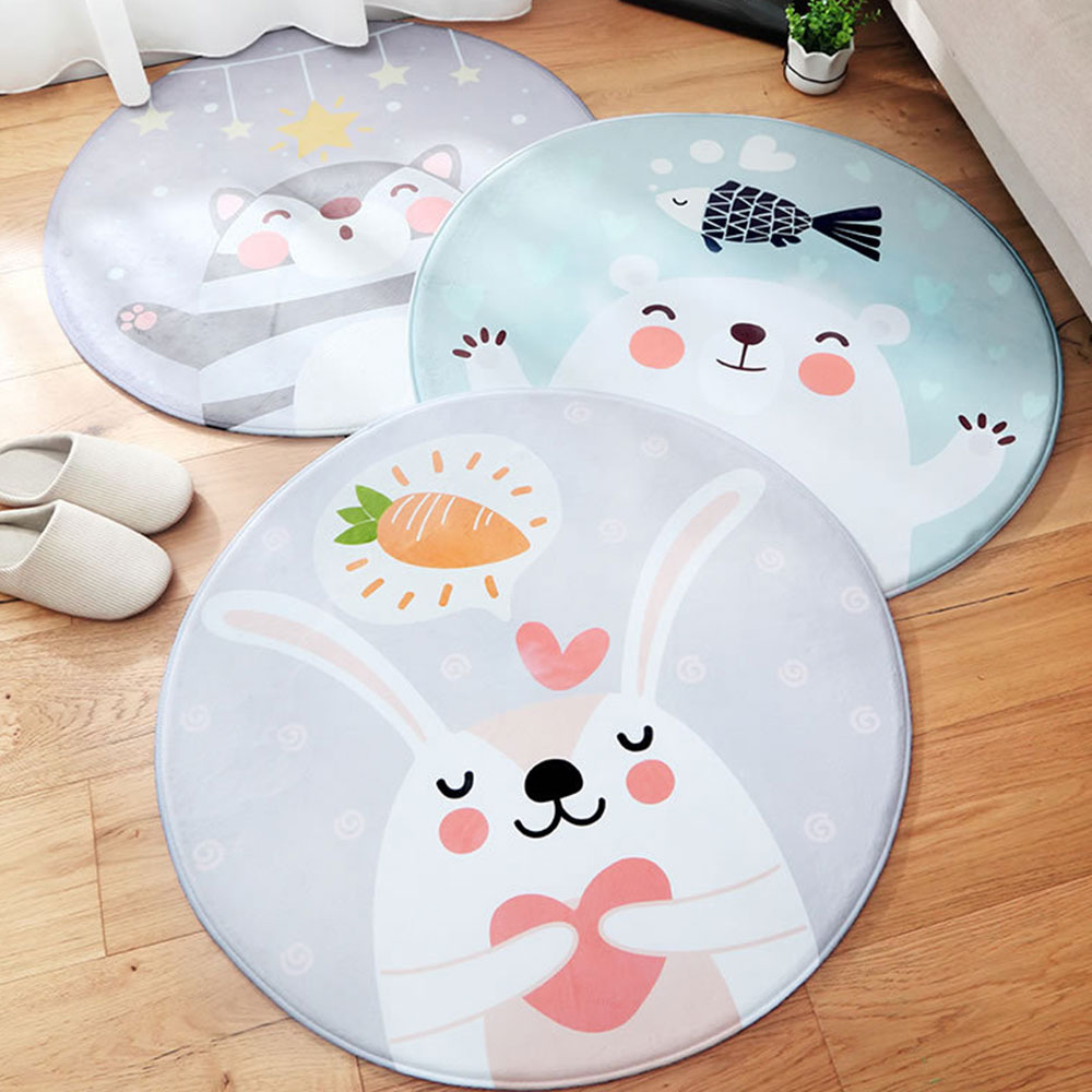 Chenille Carpet Fluffy Rugs, Baby Play Floor Mat, Non-slip Rugs for Living Room, Bedroom