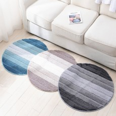 Round Color Rug, Shaggy Fluffy Rugs Carpet, Non-slip Floor Mat for Living Room, Bedroom