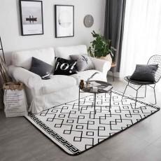 Flannel Rugs Modern Design Floor Mat, Non-slip Shaggy Fluffy Rugs for Living Room, Bedroom