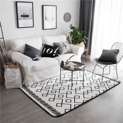 Flannel Rugs Modern Design Floor Mat Non Slip Shaggy Fluffy Rugs