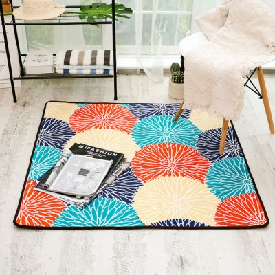 Chenille Fabric Carpet, Non-slip Baby Play Mat, Modern Design Floor Mat for Living Room, Bedroom