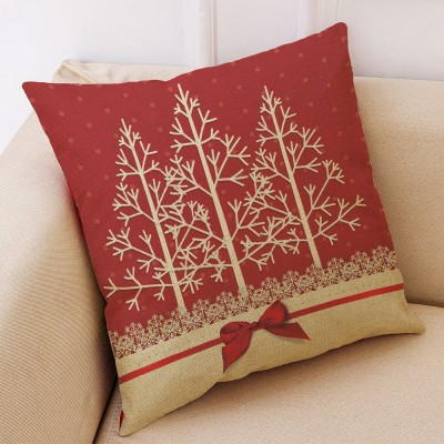 Flannelette Linen Polyester Pillow Case, ew Arrival Christmas Series Home Decoration Cushion Cover