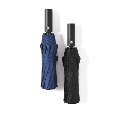 Automatic Umbrella 10 Ribs for Rain and Sunny Day, Super Waterproof Windproof Sun-resistant Folding Umbrella for Two Person