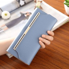 Chic Women Handbag, Metal Overedging Long Clutch Evening Party Bag Mini Purse
