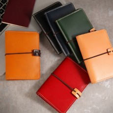 Leather Cowhide Passport Holder, Handmade Genuine Leather Purse, Female multifunctional Bag for Passport, ID Holder