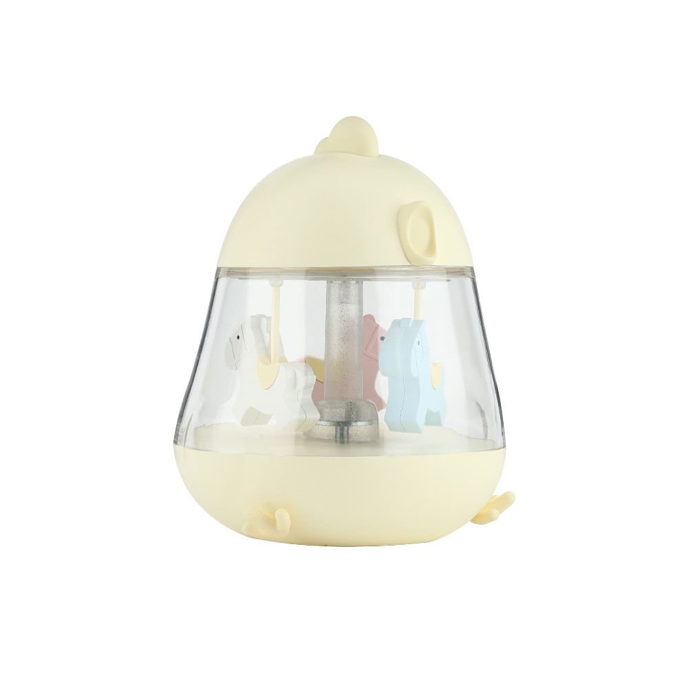 Children Tangible Lamp Bedside Light, USB Carousel Music Light with Fantasy Chicken Design