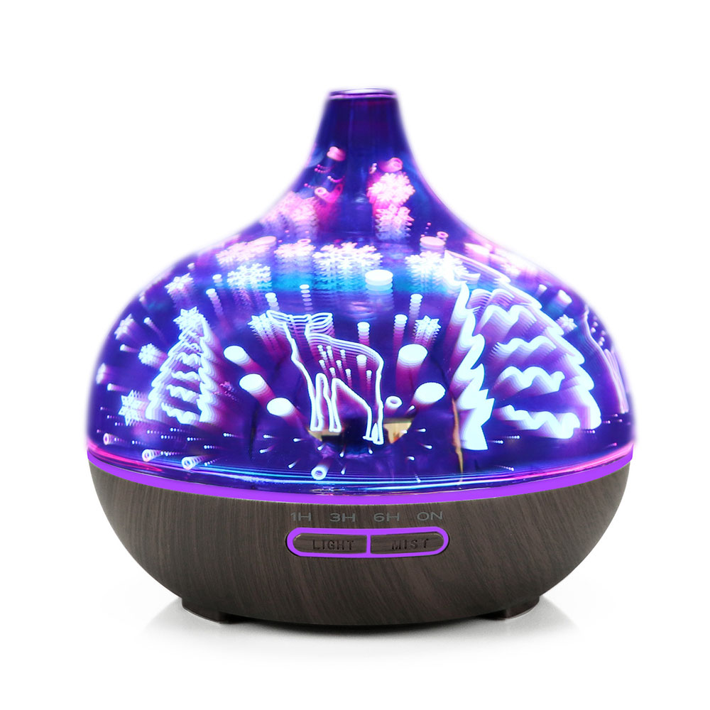 USB Carousel Music Box with Fantasy Chicken Design, Colorful Bedside Light, Children Tangible Lamp