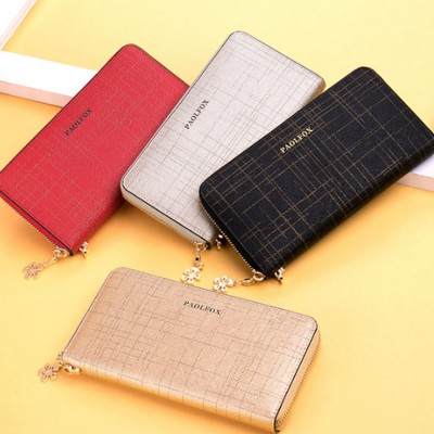 Two-layer Cowhide Leather Clutch, Multifunctional Large Capacity Clutch for Women, 2019 New Long Zipper Purse